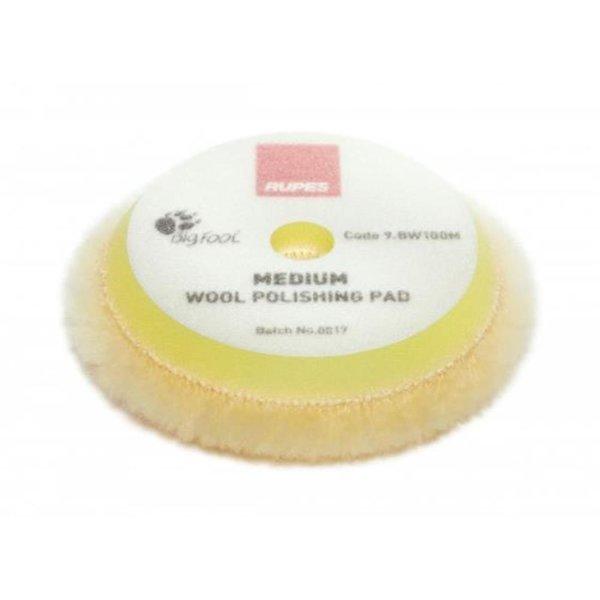 Rupes Bigfoot Polierschwamm/-Pad Wolle Medium Gelb 80/100