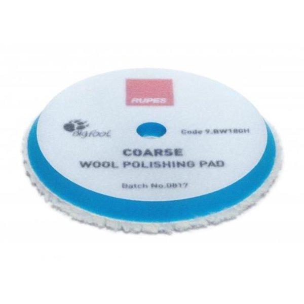 Rupes Bigfoot Polierschwamm/-Pad Wolle Coarse Blau 150/180