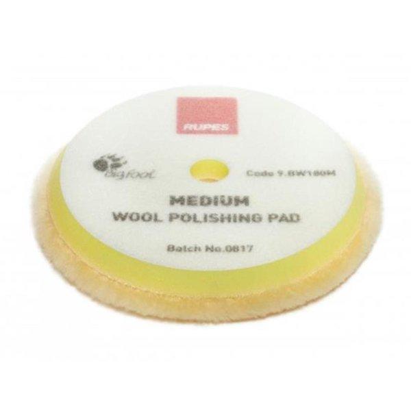 Rupes Bigfoot Polierschwamm/-Pad Wolle Medium Gelb 150/180
