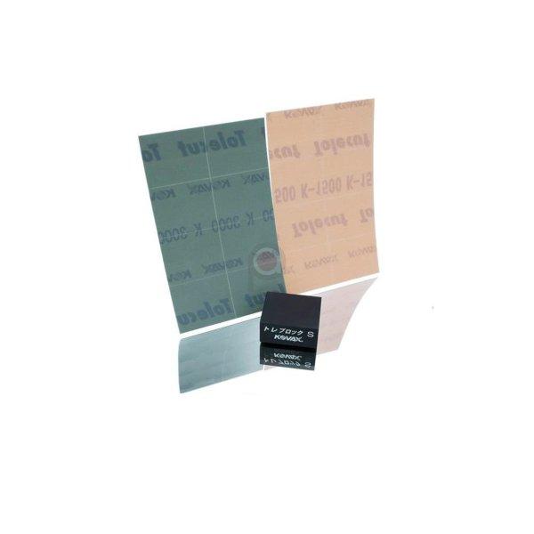 Kovax Tolecut Trockenschleifset mit Toleblock und Schleifpapier