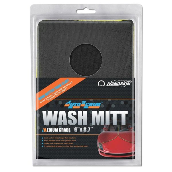 "NANOSKIN AUTOSCRUB Wash Mitt Waschhandschuh 6"" x 8,7"" Medium Grade"