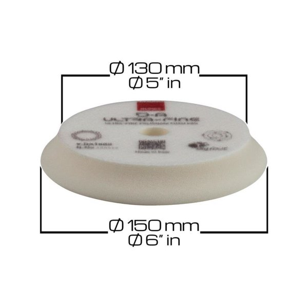 Rupes Bigfoot Polierschwamm/-Pad Klett DA Ultrafine Weiß 130/150