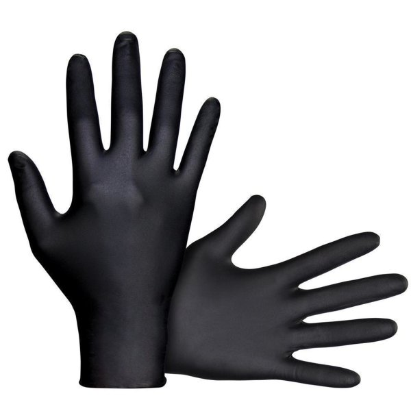 Ansell Schwarze Microflex Nitril Gummi Handschuhe 93-852
