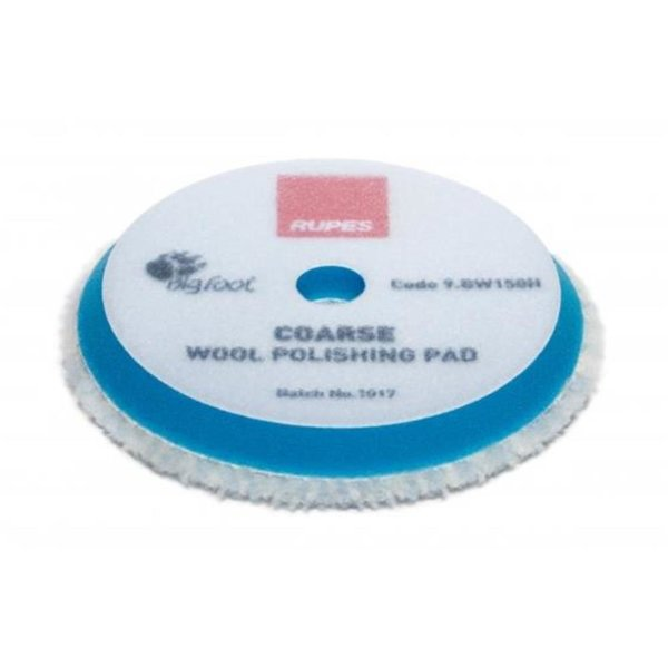 Rupes BigFoot Polierschwamm/-Pad Wolle Coarse Blau 130/150