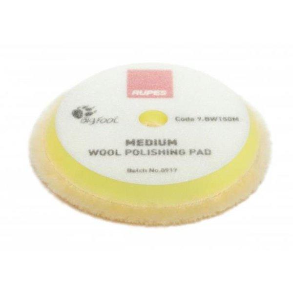 Rupes BigFoot Polierschwamm/-Pad Wolle Medium Gelb 130/150