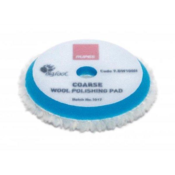 Rupes Bigfoot Polierschwamm/-Pad Wolle Coarse Blau 80/100