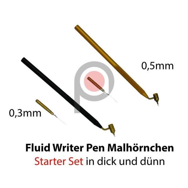 Fluid Writer Pen Set Malhörnen in dünn und dick